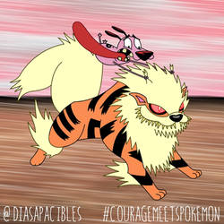 Courage Meets Arcanine by diasapacibles