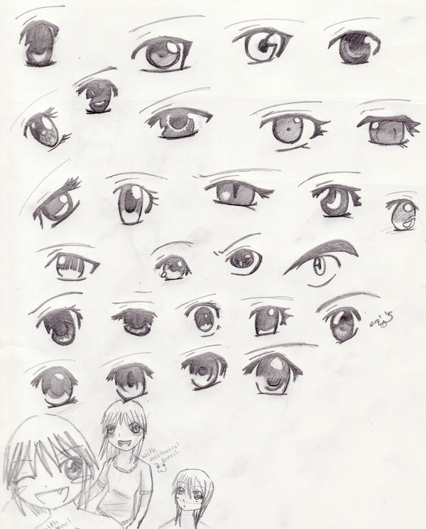 Anime Both Eyes Pencil