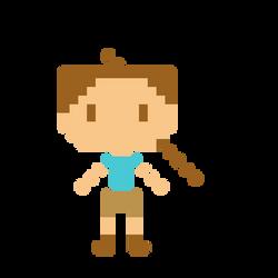 Lara Croft 8bit by lavender42