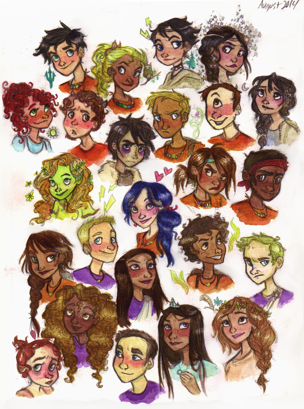 The gallery for --> Heroes Of Olympus Characters Official Art