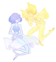 Blue and Yellow by Dellbelle39
