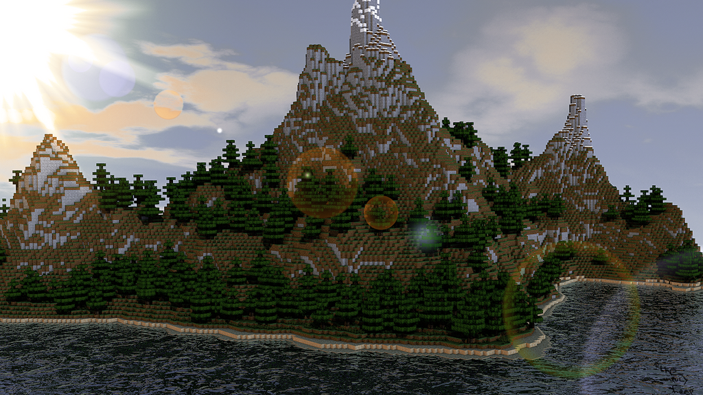 Minecraft Landscape by The-Unruly-Sheep on DeviantArt