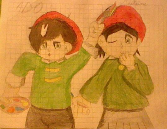 Ado and Adeleine by Greasy-LucarioYun
