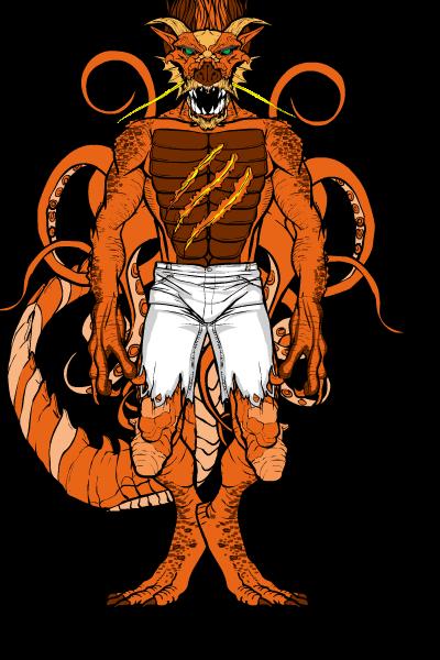 Dragkargoon Dragonsquid Form by Greasy-LucarioYun