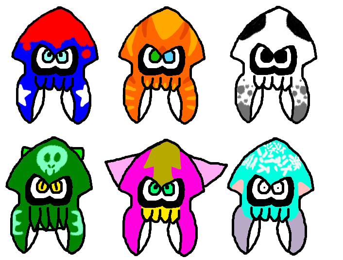 Squid Adoptables [OPEN] by Greasy-LucarioYun