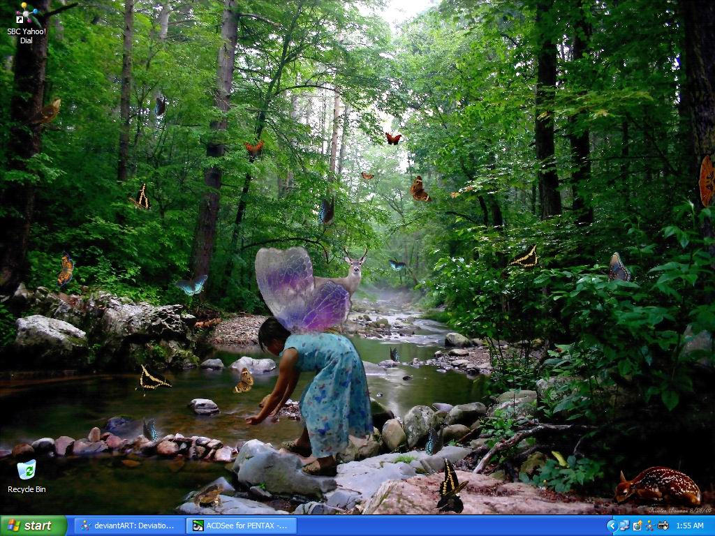 Fairy of the Forest..Desktop by GeodeLady