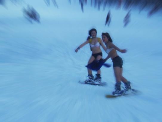Naked Snowboardin by mayrandah