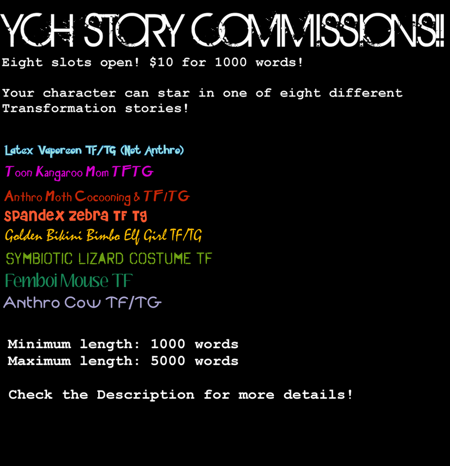 YCH TF Stories for Sale! by stepfordpatriarch