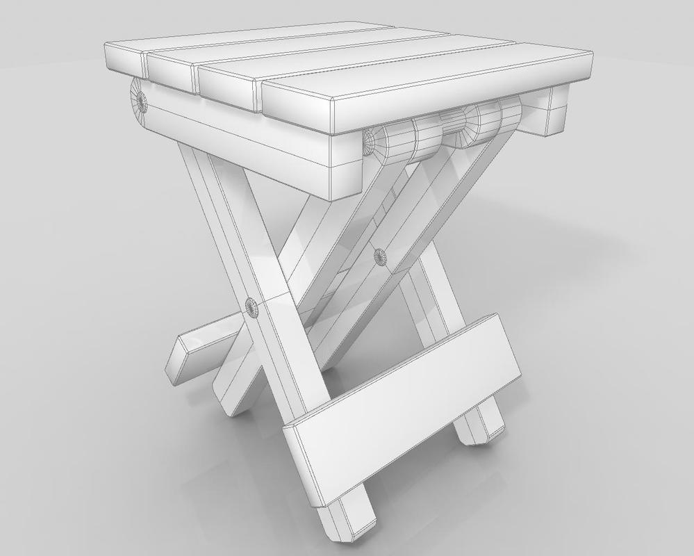 Collapsible Side Table Wire Frame 1 By NullPt ...
