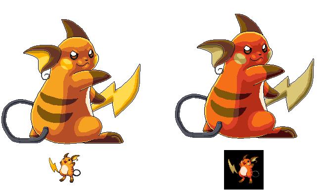 Pixel Art Pokemon Raichu
