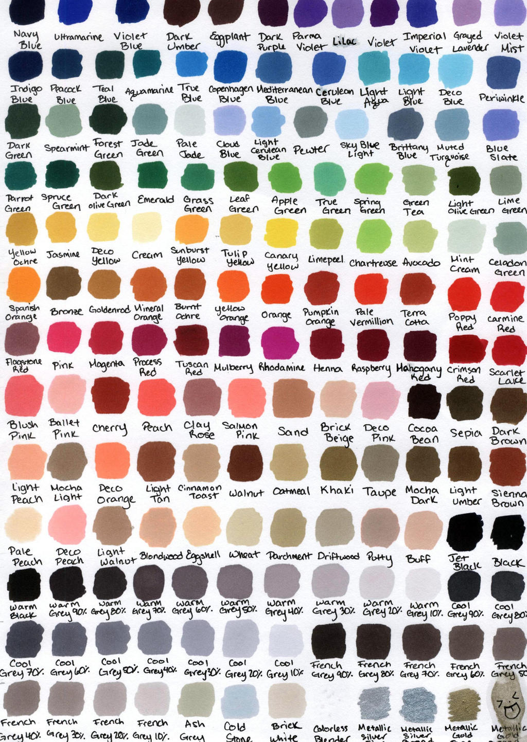 Prismacolor 132 premier colored pencil chart by transientart on prismacolor color chart by katwynn nvjuhfo Image collections