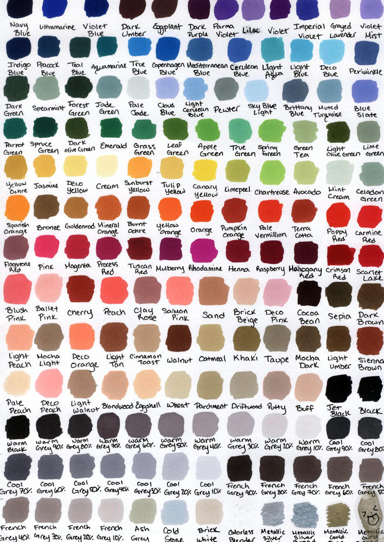 Prismacolor color chart by katwynn on deviantart prismacolor color chart by katwynn nvjuhfo Image collections
