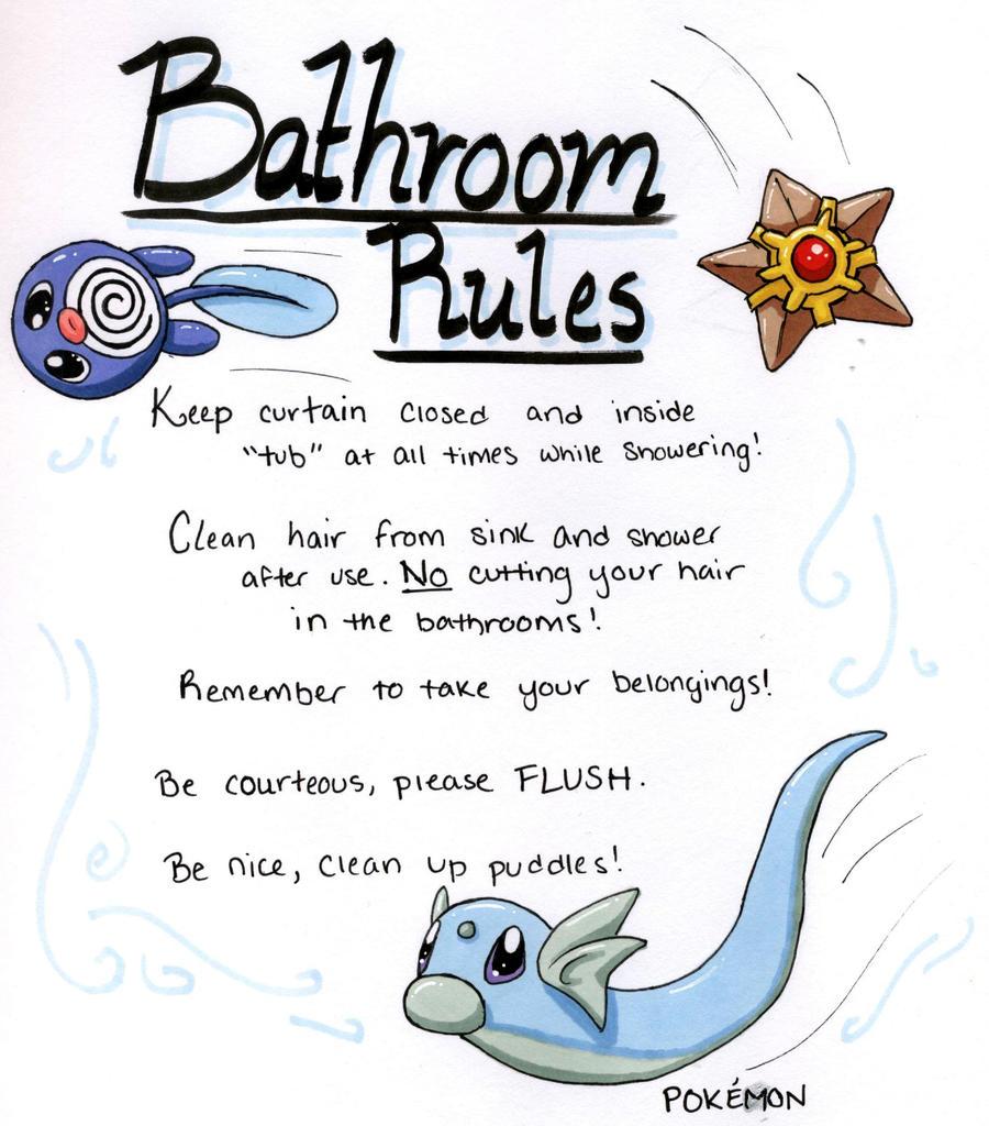 Bathroom Rules rules of the bathroom