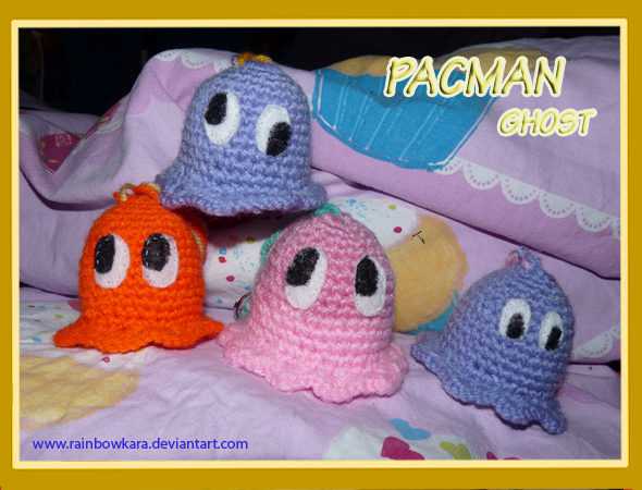 Amigurumi Pacman : pacman ghost amigurumi by rainbowKara on DeviantArt