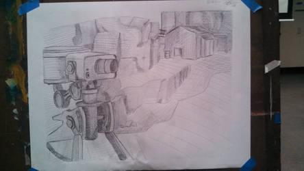 TF2 Sentry Drawing by xeno-scorpion-alien