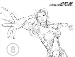 Jasmine - Concept Sketch by toddworld