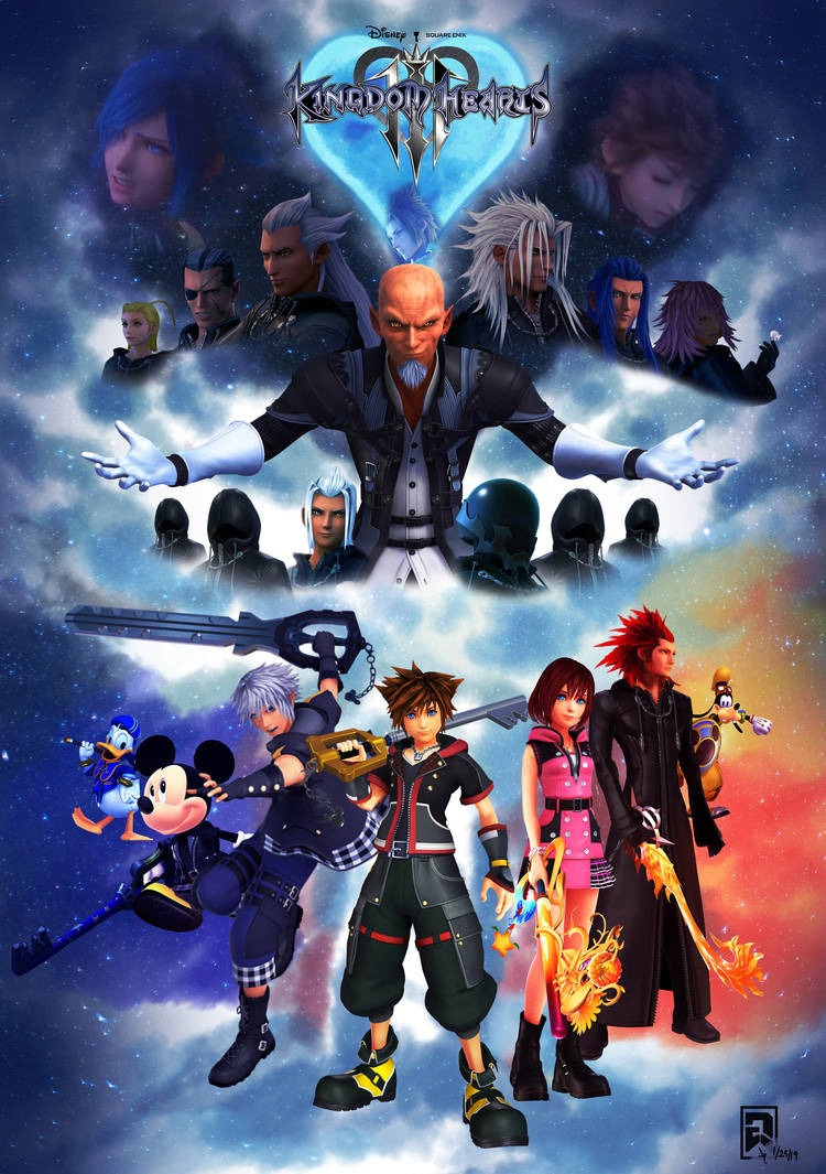 Kingdom Hearts 3 Poster (RENDER) by Raprankster on DeviantArt