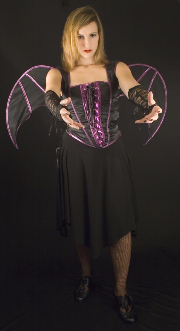 Gothic Bat Woman 2 - Stock by Sassy-Stock