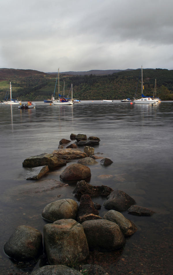 Loch Ness Stones Lake by Sassy-Stock