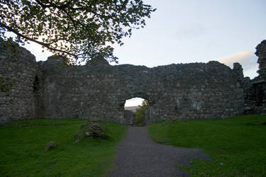 Scottish castle ruins stock 3 by Sassy-Stock