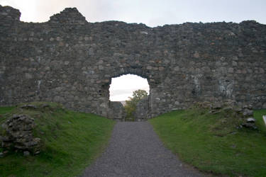 Scottish castle ruins stock 2 by Sassy-Stock