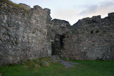 Scottish castle ruins stock 1 by Sassy-Stock