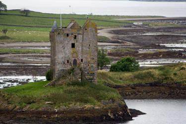 Fallen Scottish Castle stock 1 by Sassy-Stock