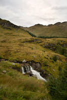 Scottish mountains and waterfall stock 1 by Sassy-Stock
