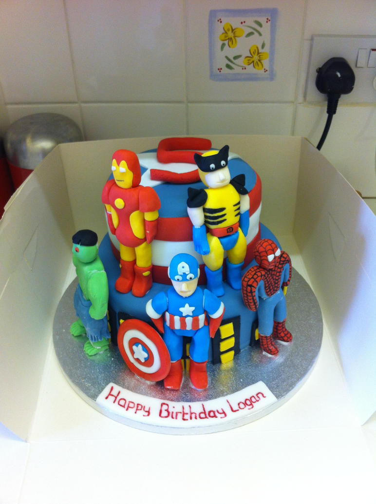 Marvel Heroes Cake By Carolineevablack On Deviantart