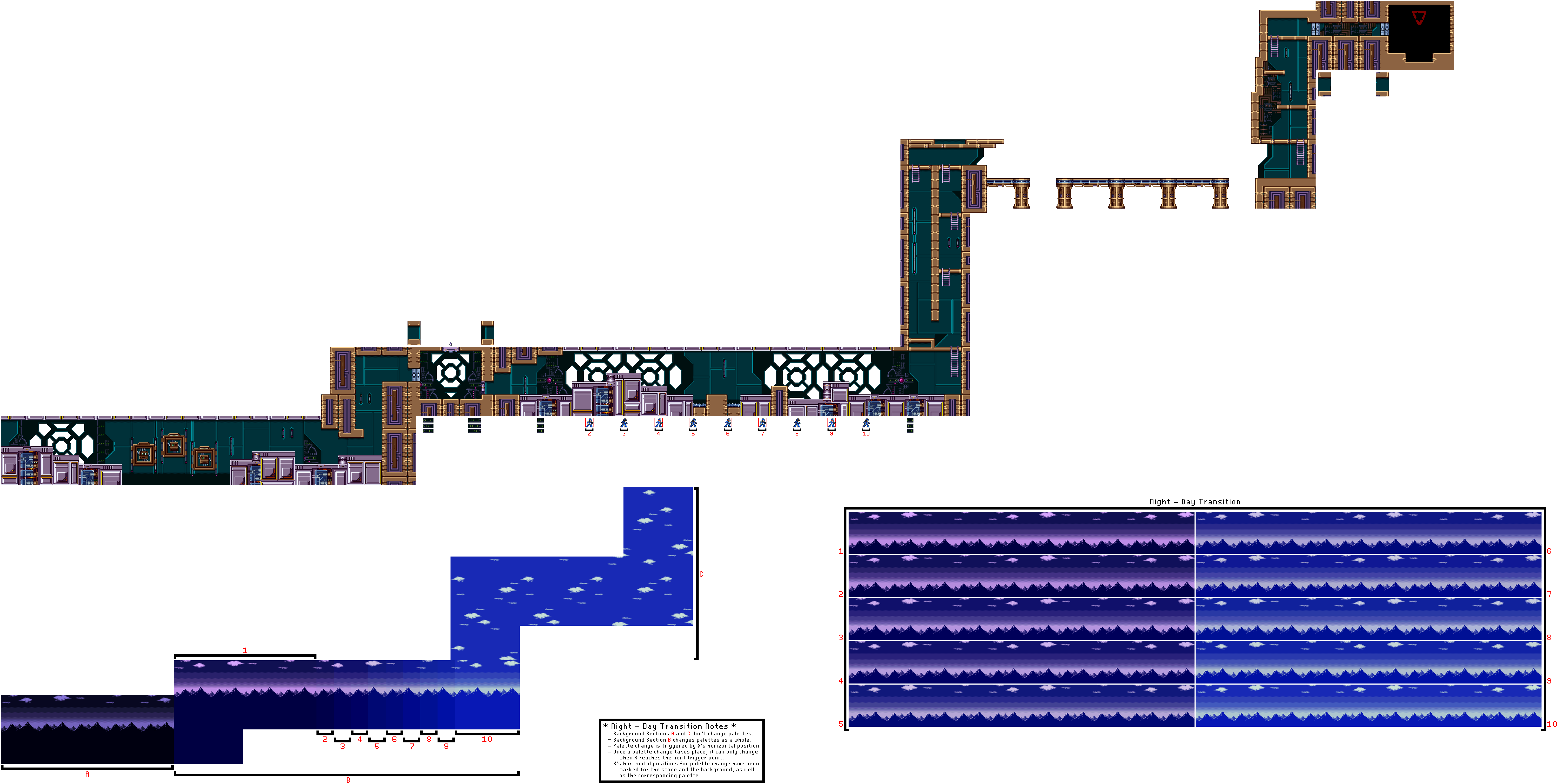 Megaman Background Sprites