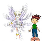 Lucas Rushifa and Lucemon