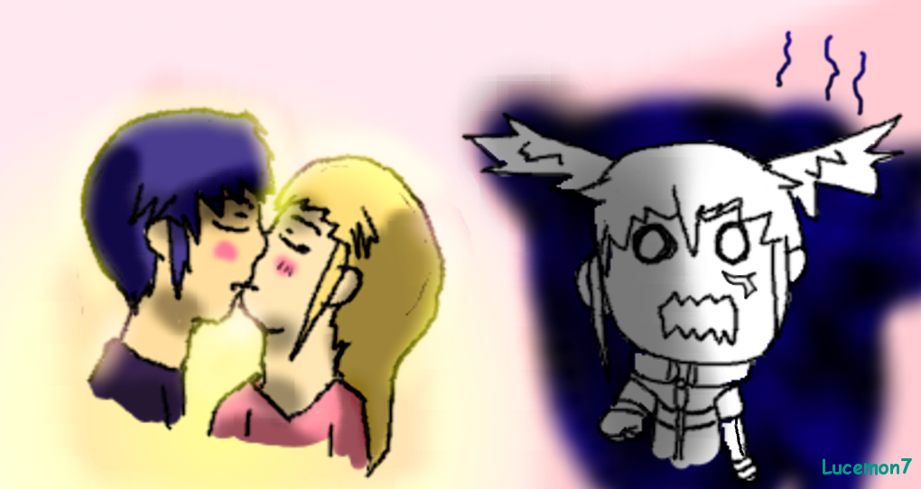 a kiss scary O_O by JackFrost-LCDA