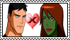 Stamp : Superboy X Miss Martian (Young Justice) by JackFrost-LCDA
