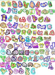 Pokemon Keychain Set (Incomplete) by Kitsuraki