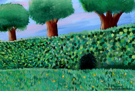 Hedgerow Background (for Storybook)