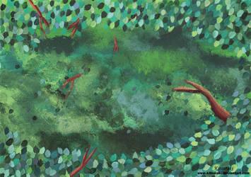 Inside Bushes Background (For Storybook) by Kitsuraki