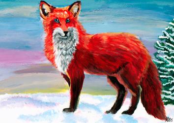 Snow Fox by Kitsuraki