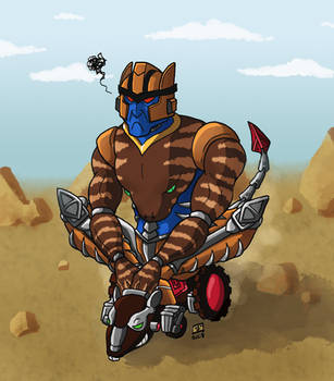 Dinobot's AWESOME Ride by Booter-Freak