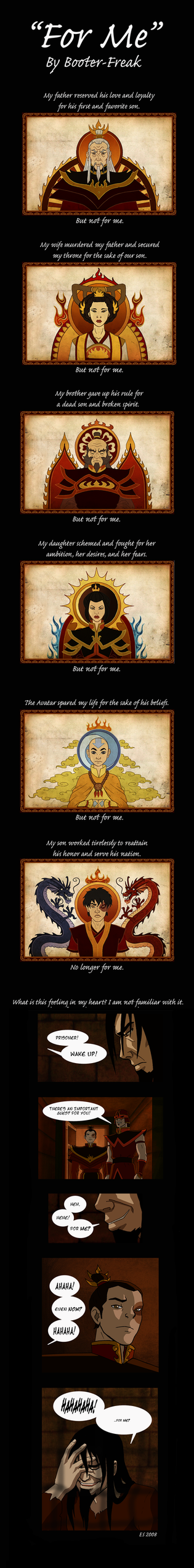 Ozai Comic: 'For Me' by Booter-Freak