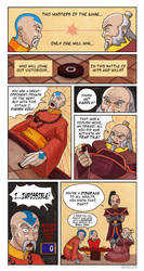 Game Masters: Iroh VS Gyatso by Booter-Freak