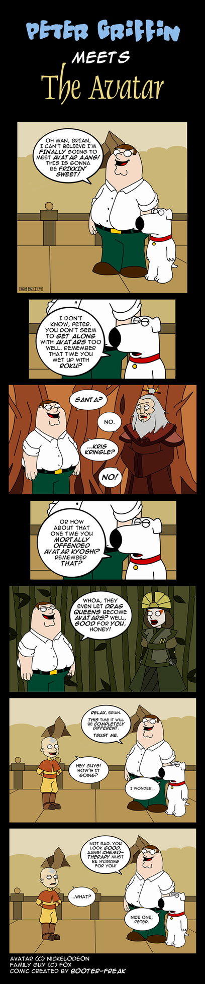 Peter Griffin Meets Aang by Booter-Freak