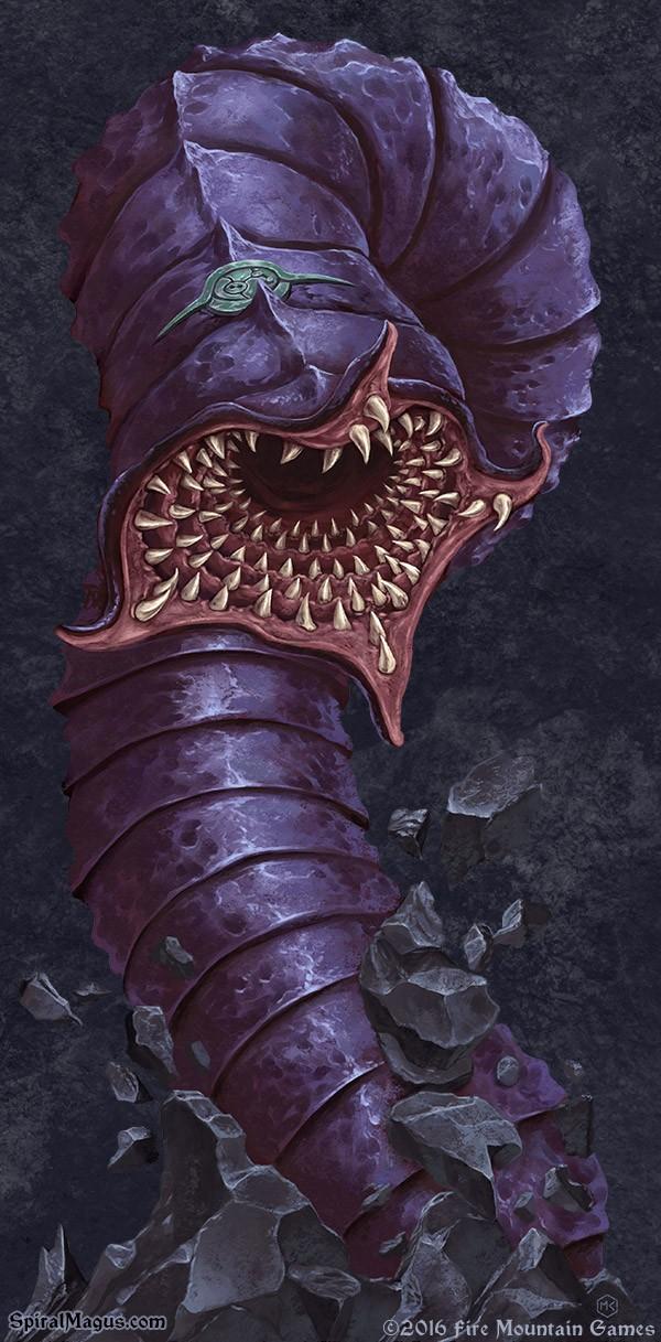 Purple Worm by SpiralMagus