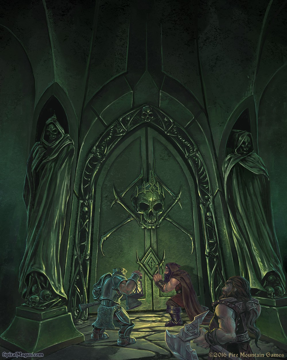 Dwarves on the Lich's doorstep by SpiralMagus