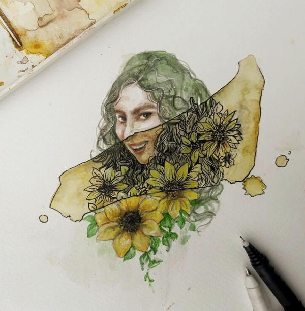 sunflower smile  by harry-virdy