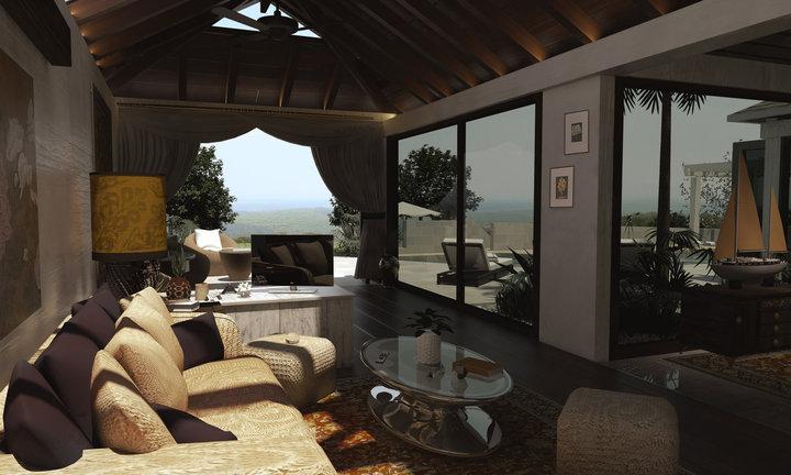 Lounge, minivilla by Alex-Brady-TAD