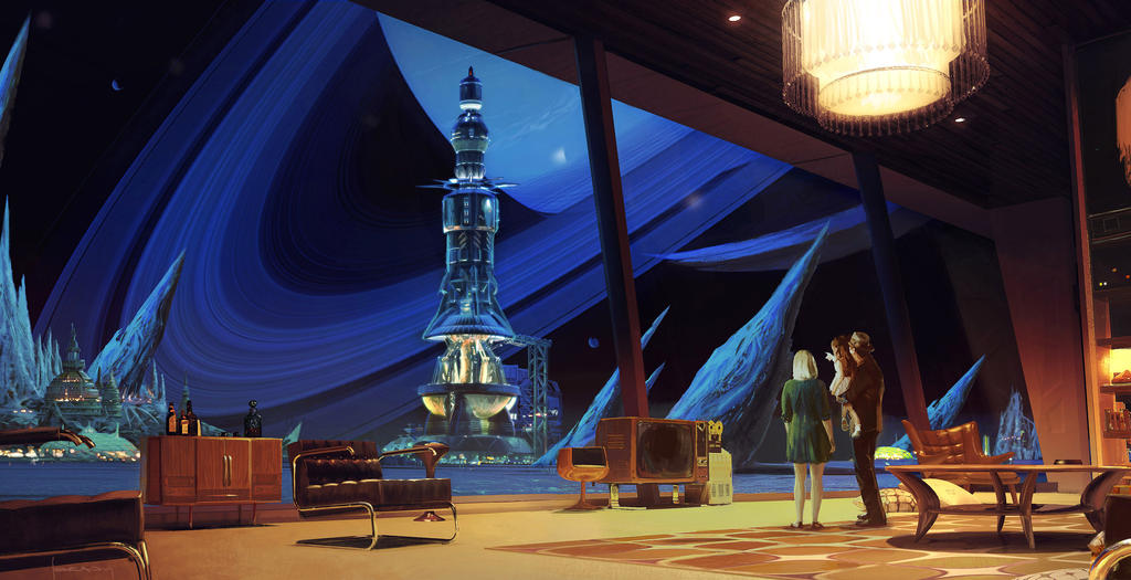 Ascension, Syfy Channel Comicon Display, Interior by Alex-Brady-TAD