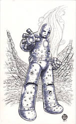 Old-School Iron-Man by BrettBarkley