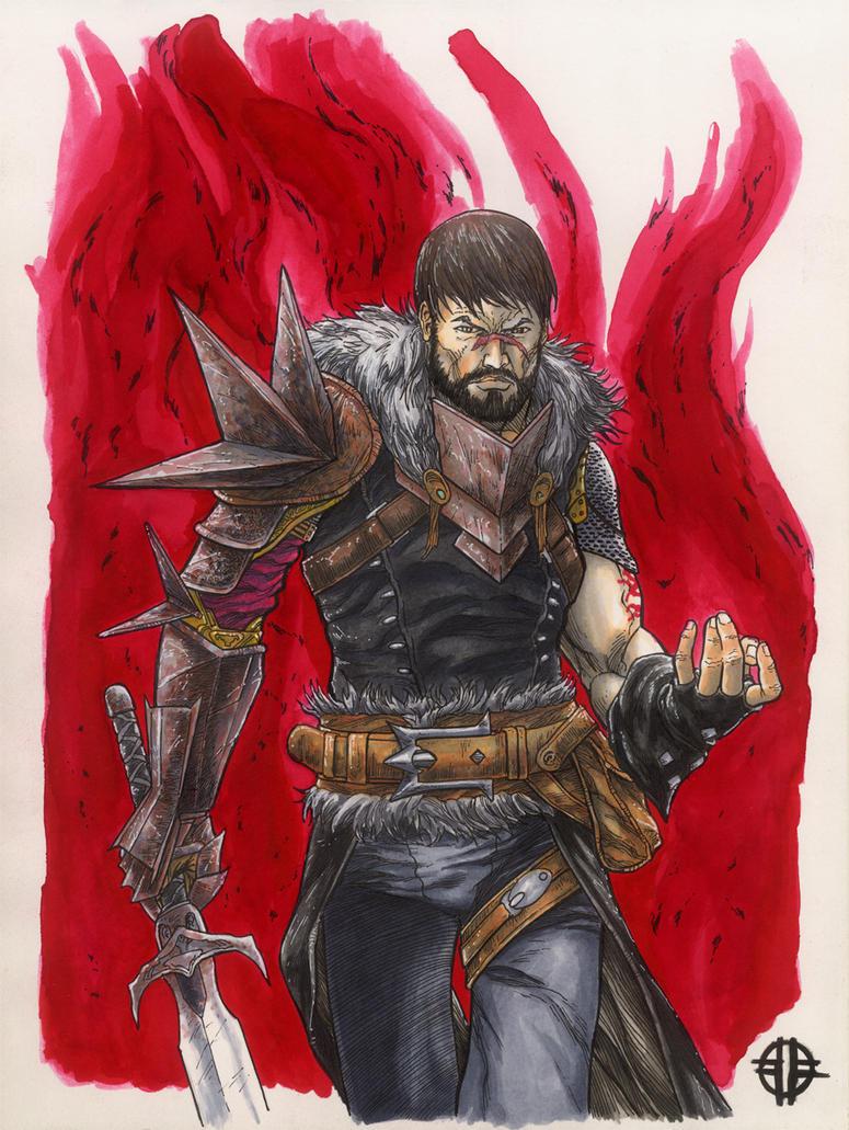 Dragon Age 2 Hawke by BrettBarkley