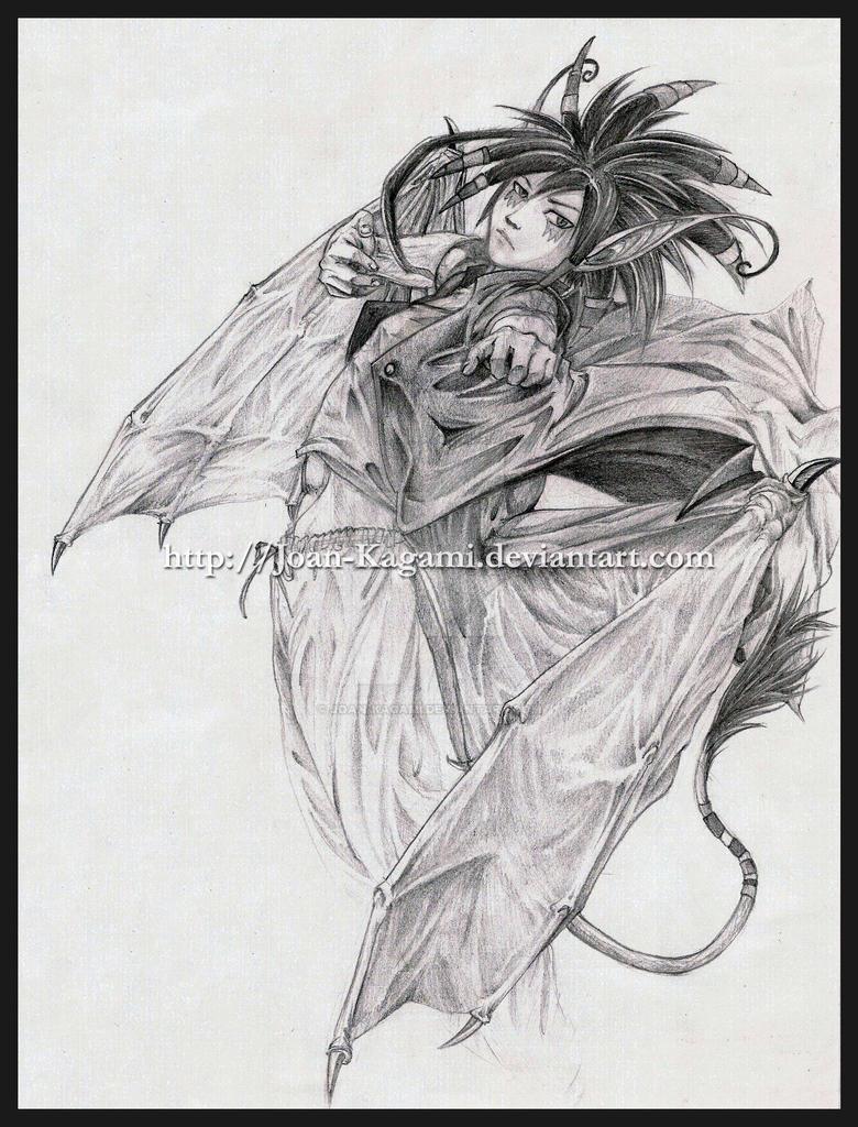 Eilio in flight by Joan-Kagami