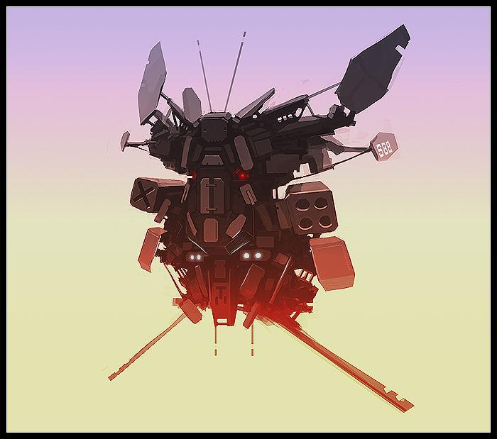 Sketch: Sentinel Mech by rickystinger88